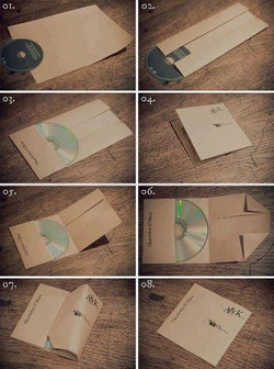 DIY Brown Paper Bag CD Case/Cover