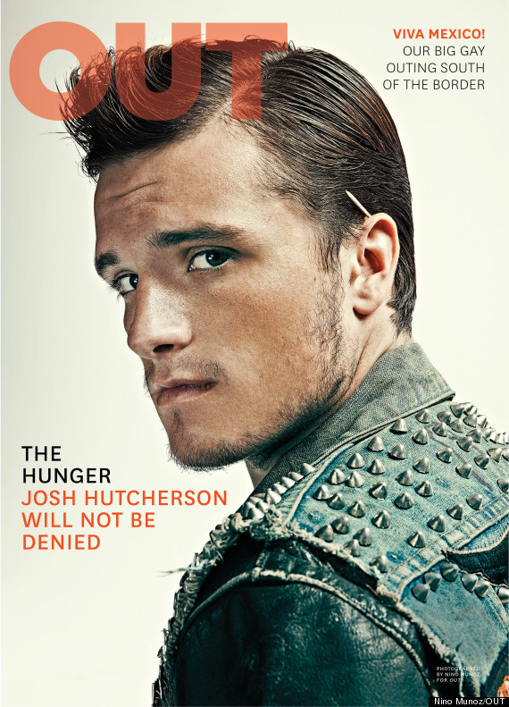 Josh Hutcherson on the cover of Out magazine