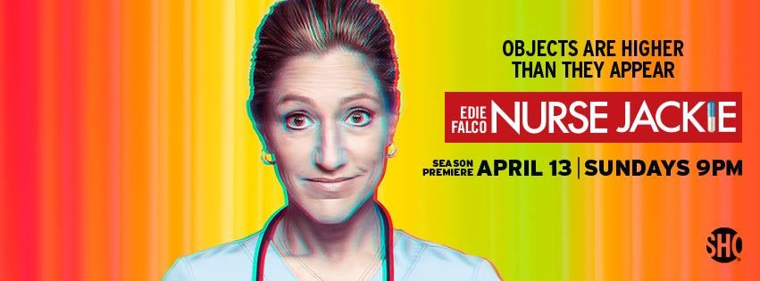 Banner announcing the new season of Nurse Jackie, AND my new Facebook cover photo.