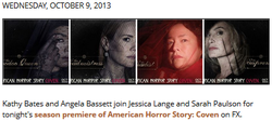 Screen capture of Updates for 10/09/13 - American Horror Story: Coven