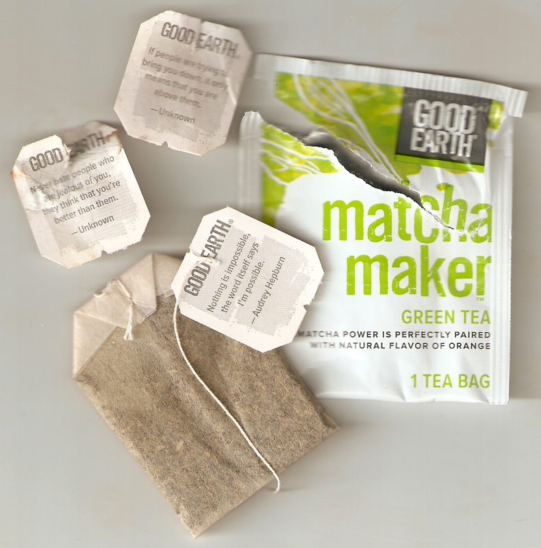 My Good Earth Matcha Maker Tea Tag Quotes