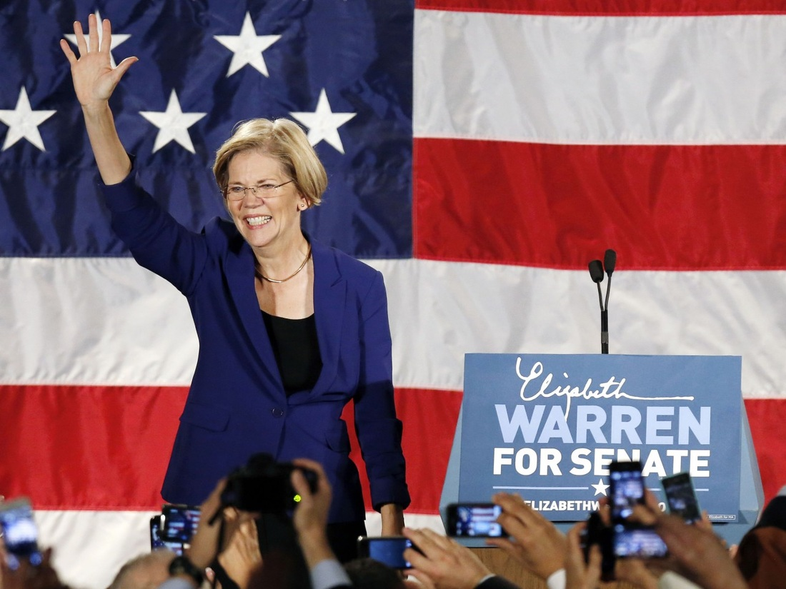 Senator Elizabeth Warren of Massachusetts