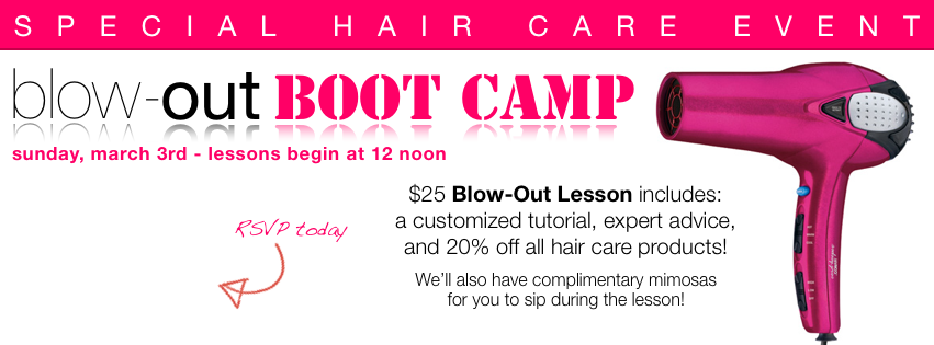 Blow-Out Boot Camp Spa Marketing