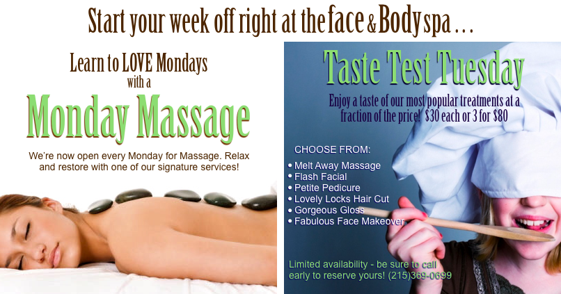Monday/Tuesday Promotion - Spa Marketing © 2013 Nicholas Emeigh